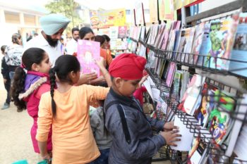 Young Engrossed readers at the Lit FEst